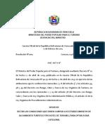 4. Resolución 005 Condiciones Para La Categoría HOTEL de TURISMO
