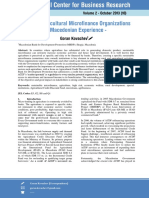 Special Agricultural Microfinance Organizations - Macedonian Experience