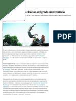 Cómo acertar en la elección del grado universitario   Economía   EL PAÍS