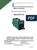 Manual MaxxiCUT 40 Português Ver3-1
