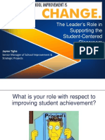 The Leaders Role in Creating a Student Centered Classroom