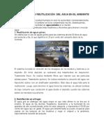 Recuperacion y Reutilización Del Agua en El Ambiente