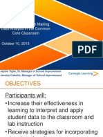 Data-Driven Decision Making- Data Analysis in the CCSS Classroom