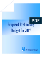 Preliminary 2017 Budget Presentation November 14th