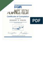 ICAR ASE Certificate