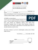 Autorizacion de viaje 2016