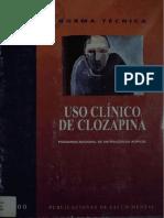 Uso Clínico Clozapina
