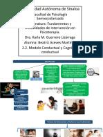 2.2 EL Modelo Conductual y Cognitivo Conductual