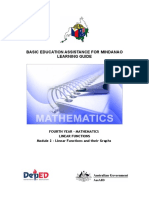 BEAM LG Gr. 10 Module 2-Mathematics Linear Functions and Their Graphs