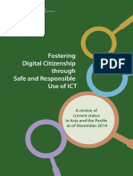 UNESCO. (2015). Fostering Digital Citizenship Through Safe and Responsible Use of ICT. Bangkok UNESCO