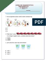 Prueba de Diagnostico 1 Matematica Mineduc