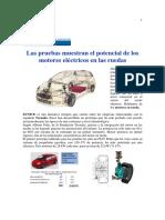 Las Pruebas Muestran El Potencial de Los Motores Eléctricos en Rueda
