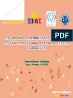 Proceedings of The Second International Conference on Electronics and Software Science (ICESS2016)