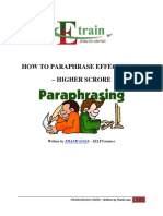 How to Paraphrase Effectively - Higher Score