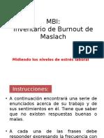 Instrucciones Aplicacion MBI Inventario Stress