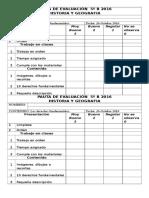 Pauta de Evaluación 5º b