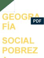La Geografía Social Pobrez1