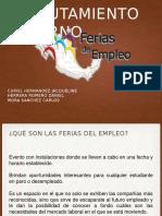 "Diapositivas  ""Ferias de Trabajo"""