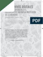 Alejandro Sabido, Los Archivos Digitales
