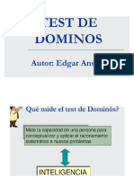 Folleto de Test de Dominó