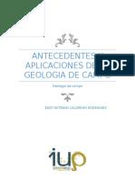 Antecedentes y Aplicaciones Geologia de Campo