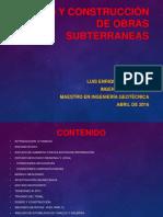 0- Introducción Al Diseño y Construcción de Obras Subterraneas