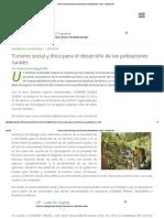 Turismo Social y Ético Para El Desarrollo de Las Poblaciones Rurales - Ecoportal
