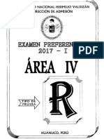 Unheval [Examen Preferencial 2017-i] - Area IV