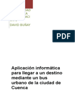 Aplicación en java para monitorear líneas de buses en Cuenca