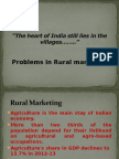 Problems in Rural Marketing