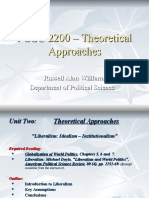 POSC 2200 - Theoretical Approaches - Liberalism (1)