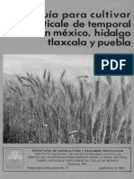 Guia Para Cultivar Triticale de Temporal en Mexico, Hidalgo
