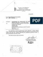 Cmo 20 2016 Suspension of Effectivity of CMO Nos. 11 2016-12-2016