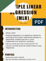 Multiple Linear Regression (MLR)