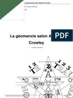 La Geomancie Selon Aleister