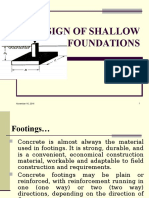 Design of Shallow Foundation
