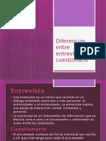 Diferencias Entre Entrevista y Cuestionario