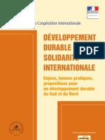 Dd Developpement Durable Solidarite Internationale