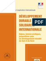 Dd Developpement Durable Solidarite Internationale