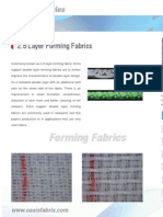 2.5 Double Layer Forming Fabrics | Paper Machine Clothing  | By Oasis Fabrix