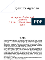 CASE DIGEST Arzaga v Copias and Calandria