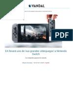 EA Llevará Uno de 'Sus Grandes Videojuegos' a Nintendo Switch - Vandal
