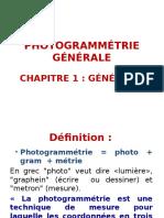 Photogrammétrie Chapitre i