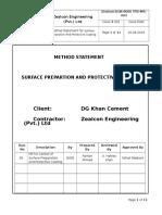 Method Statement for Surface Preparation Prtective Coating