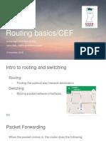 Webinar 01 - Routing Basics CEF