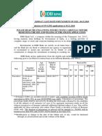 Notification IDBI Executive Posts