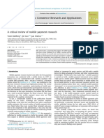 A Critical Review of Mobile Payment Research 2015 Electronic Commerce Research and Applications
