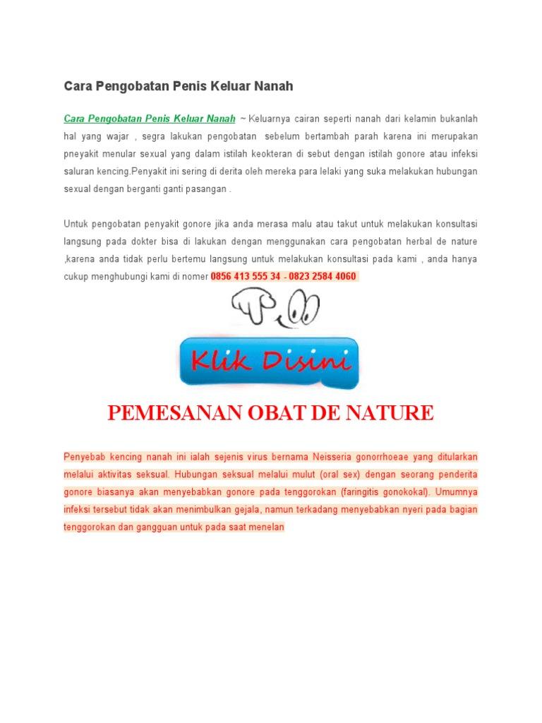 Cara Pengobatan Penis Keluar Nanah Obat Sakit Go Gonore Sipilis Raja Singa Isk 1536058780v1
