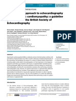 HCM BRITISH SOCIETY OF ECHOCARDIOGRAPHY GUIDELINE
