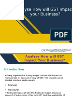 Analyse How will GST Impact your Business